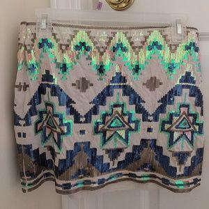 Express sequin pencil skirt